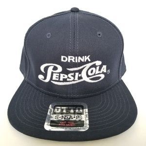 Pepsi Cola Hat Promotional Embroidered Drink Navy